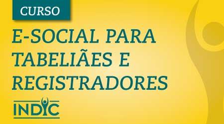 e-social para tabeliães e registradores